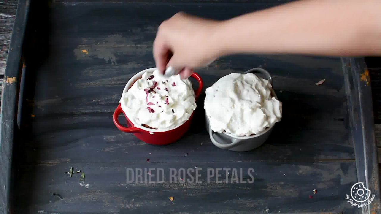 Image of the cooking step-1-7 for Eggless Gulkand Mug Cake in 2 Minutes - Rose Mug Cake