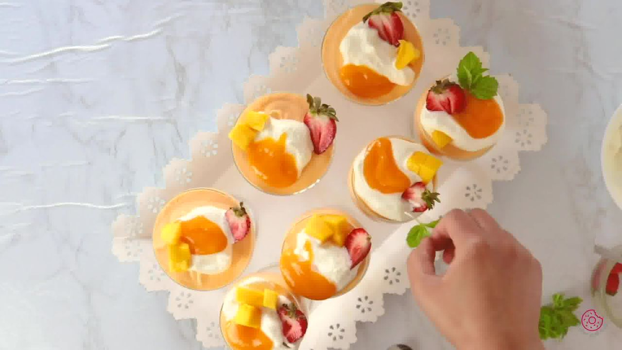 Image of the cooking step-2-11 for Eggless Mango Mousse