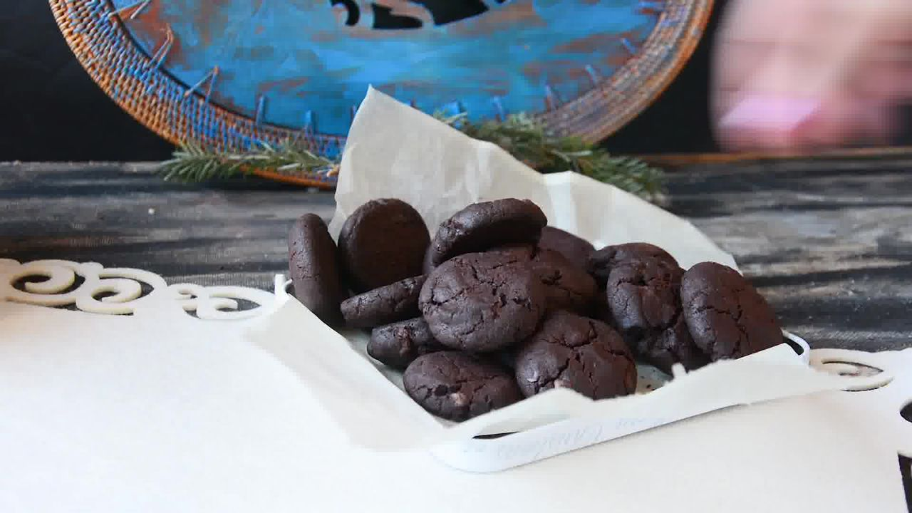 Image of the cooking step-1-10 for Eggless Triple Chocolate Cookies Recipe