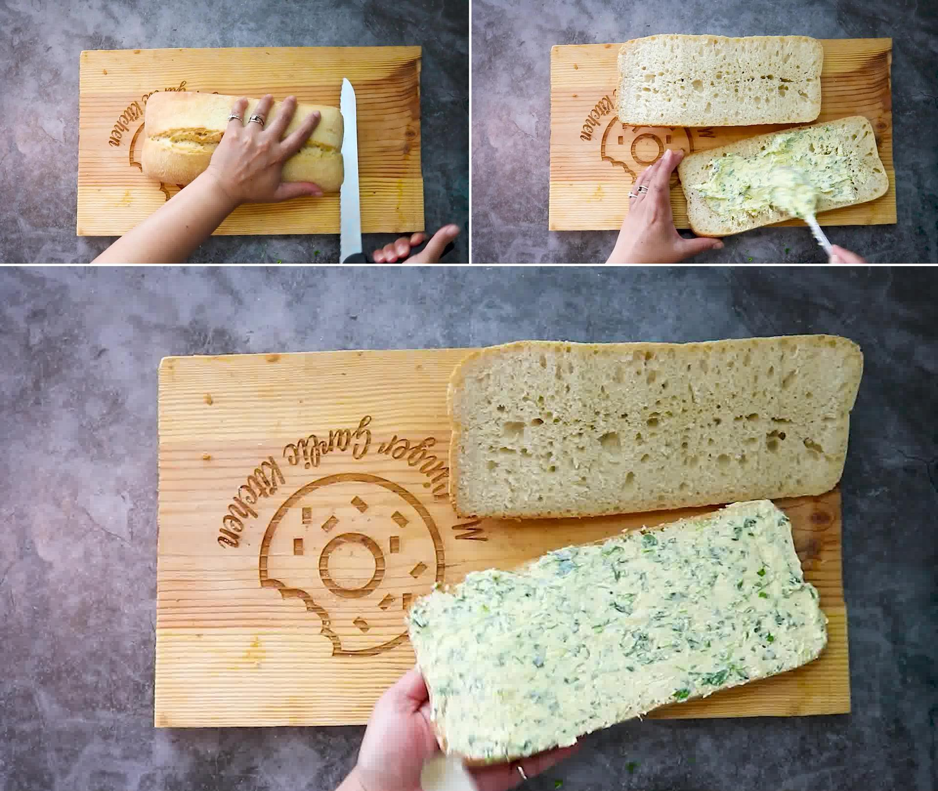Image of the cooking step-1-4 for Garlic Bread - Homemade Garlic Bread