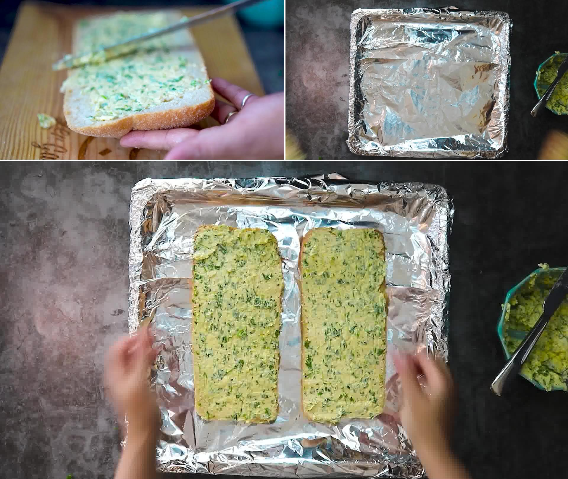 Image of the cooking step-1-6 for Garlic Bread - Homemade Garlic Bread