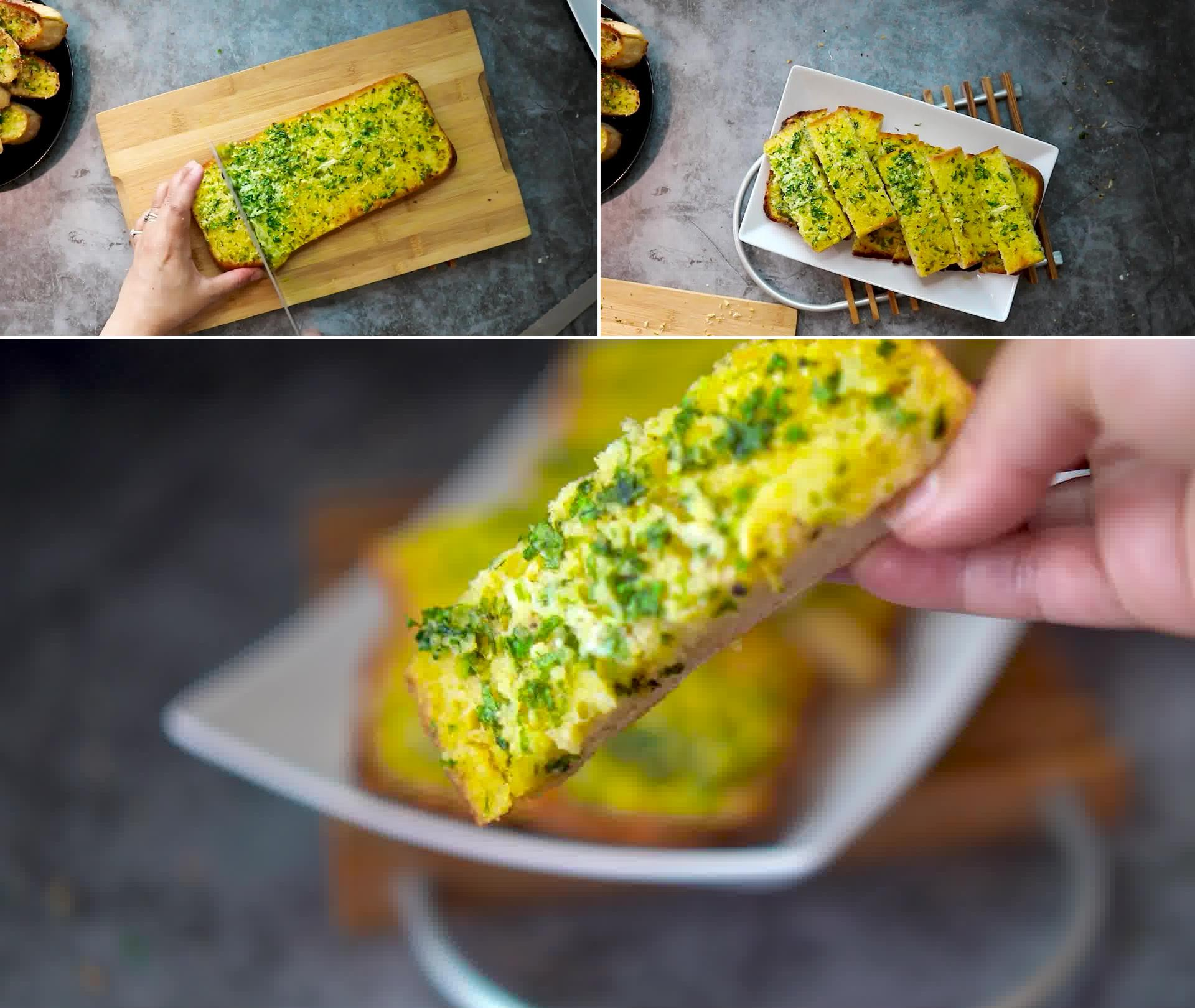 Image of the cooking step-1-8 for Garlic Bread - Homemade Garlic Bread