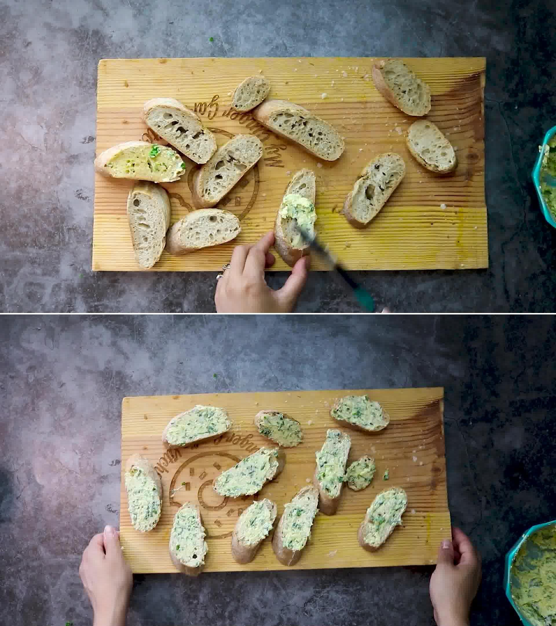 Image of the cooking step-2-2 for Garlic Bread - Homemade Garlic Bread
