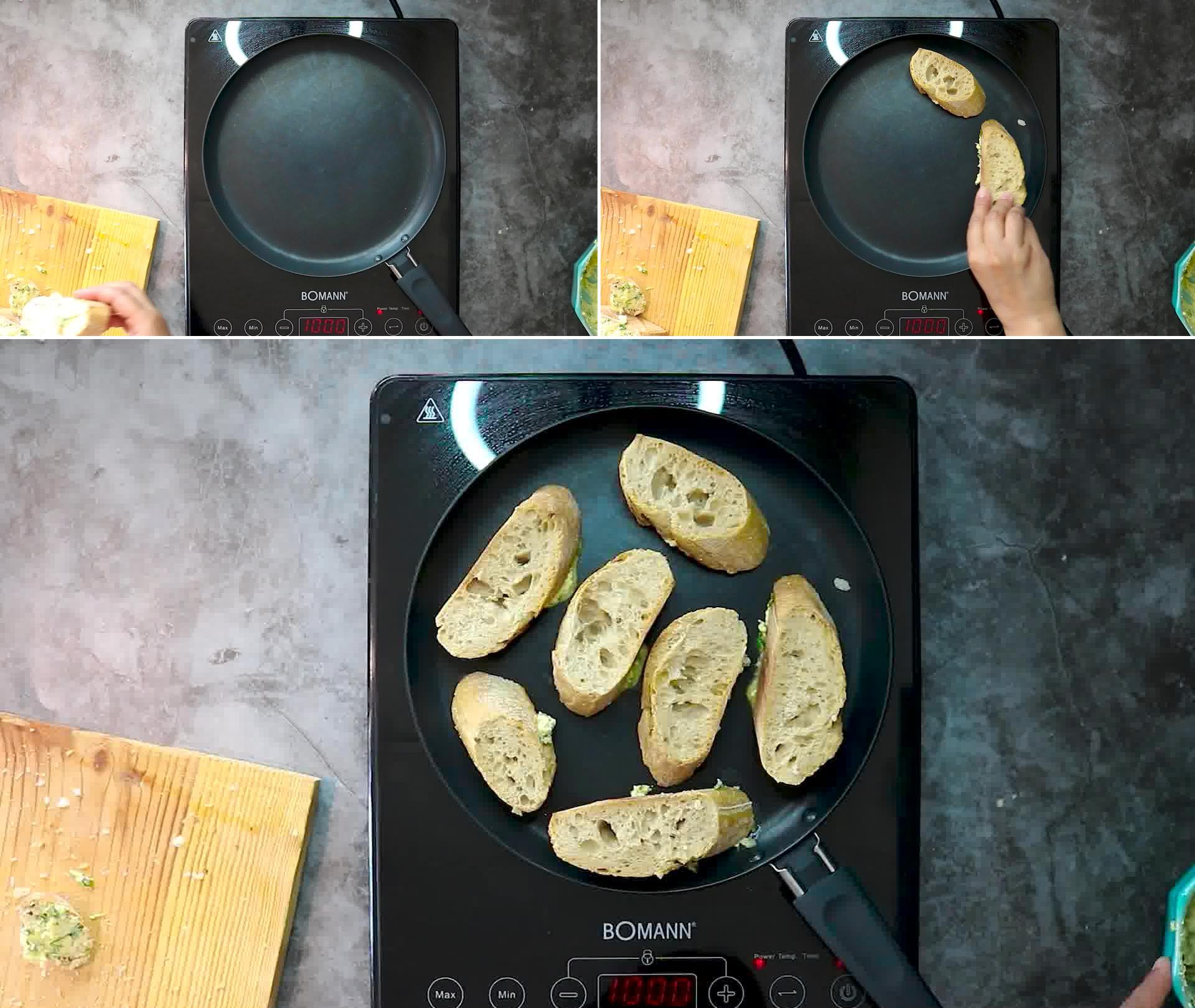 Image of the cooking step-2-3 for Garlic Bread - Homemade Garlic Bread