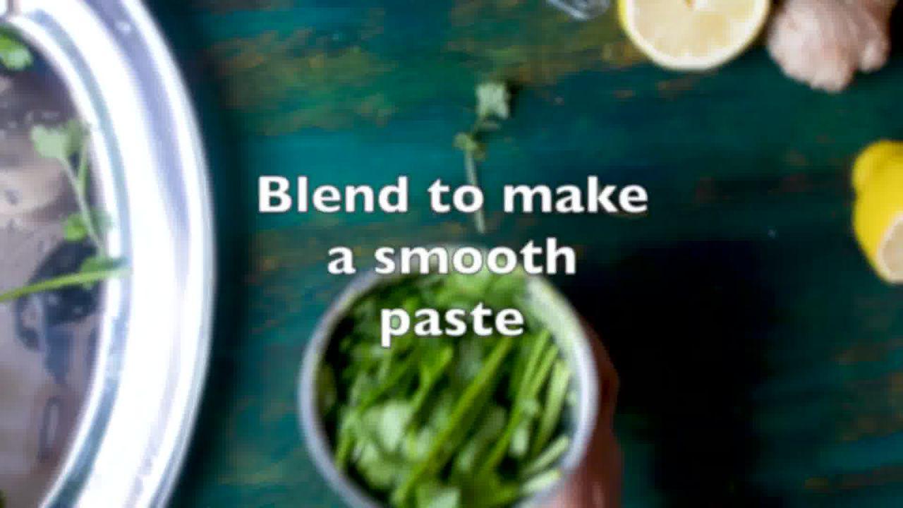 Image of the cooking step-3-2 for Coriander Chutney – Hare Dhaniye Ki Chutney (3 Ways)