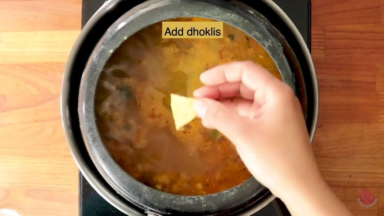 Image of the cooking step-5-6 for Gujarati Dal Dhokli