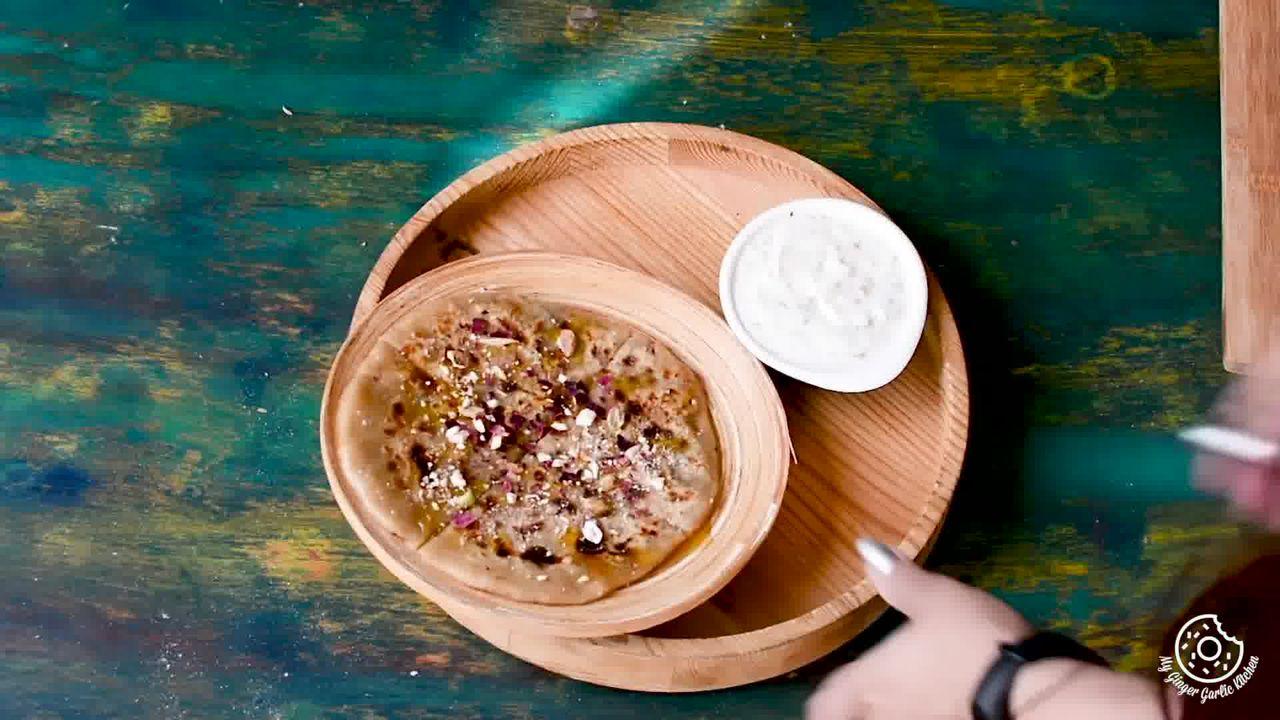 Image of the cooking step-4-1 for Gulkand Dessert Paratha With Gulkand Raita Recipe