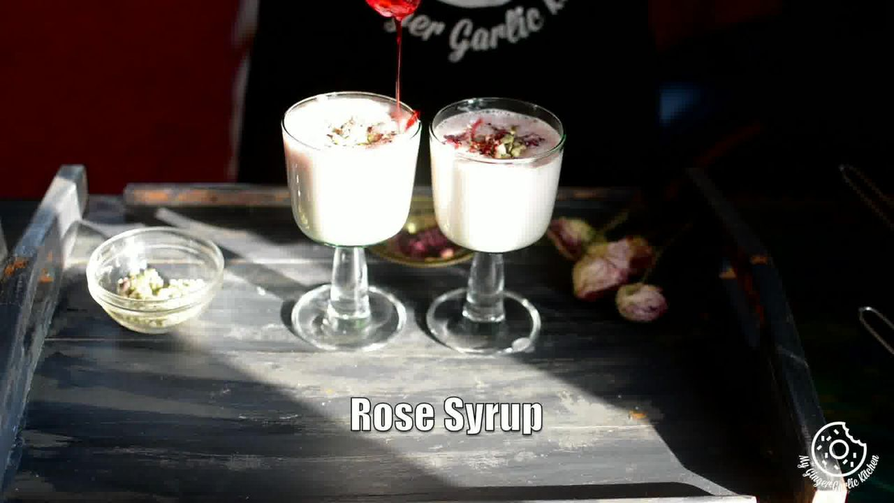 Image of the cooking step-1-5 for Gulkand Lassi Recipe - How To Make Rose Lassi