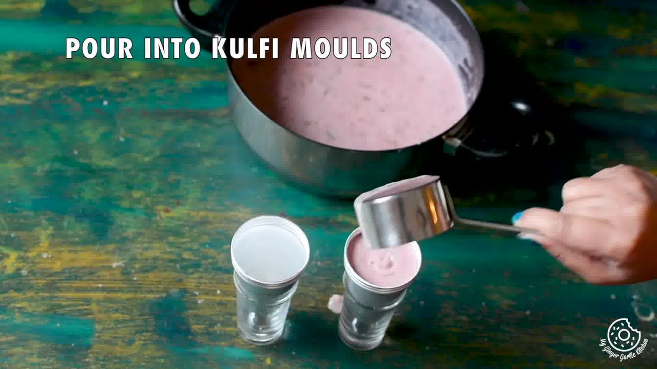 Image of the cooking step-1-13 for Gulkand Pista Kulfi - Rose and Pistachio Frozen Dessert