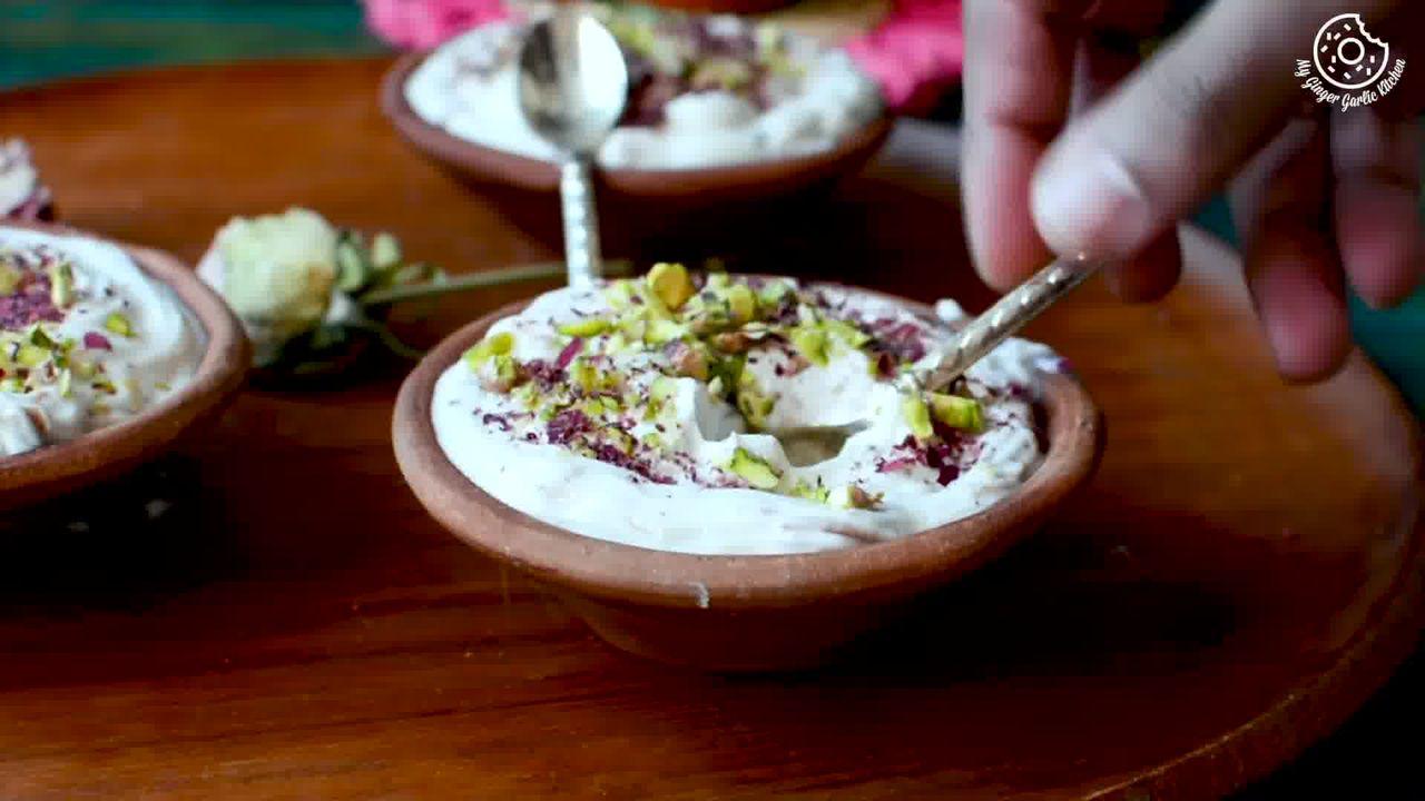 Image of the cooking step-1-10 for Gulkand Shrikhand Recipe - Rose Flavoured Greek Yogurt