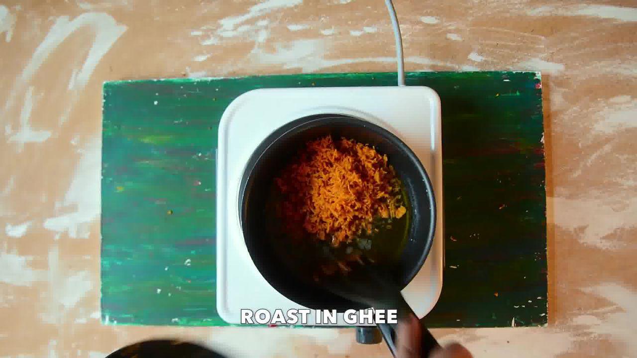 Image of the cooking step-5-2 for Kacchi Haldi ki Sabzi - Fresh Turmeric Root Curry