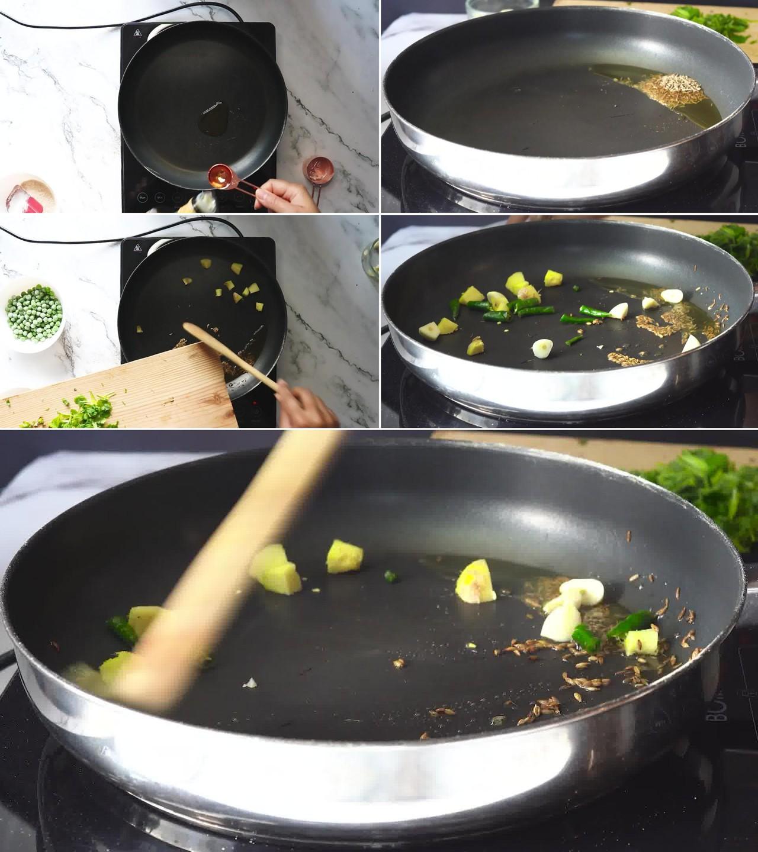 Image of the cooking step-1-4 for Hara Bhara Kabab