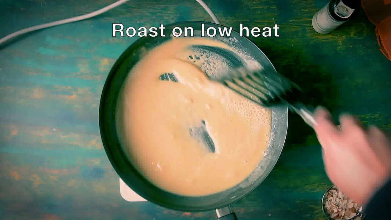 Image of the cooking step-1-3 for Atte Ka Halwa Recipe - Wheat Flour Halwa