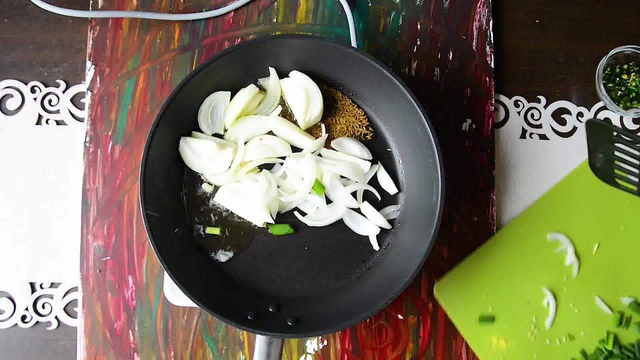 Image of the cooking step-1-2 for How To Make Double Pyaaz Ka Besan - Besan Ki Sabji