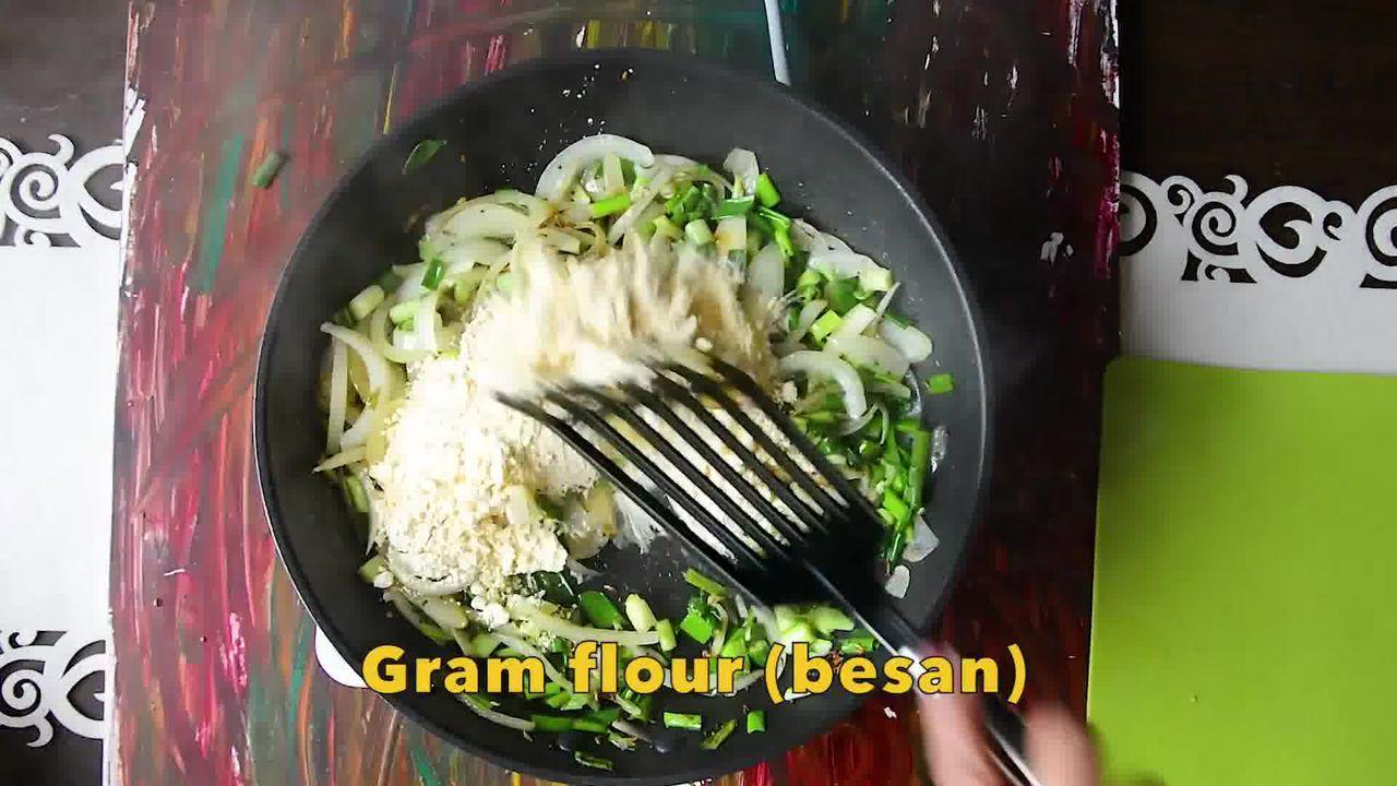 Image of the cooking step-1-4 for How To Make Double Pyaaz Ka Besan - Besan Ki Sabji