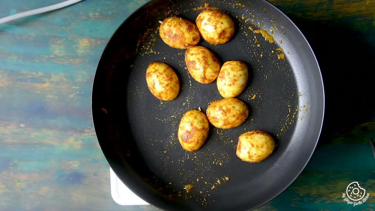 Image of the cooking step-3-5 for Hyderabadi Egg Biryani - Egg Dum Biryani (Video Recipe)