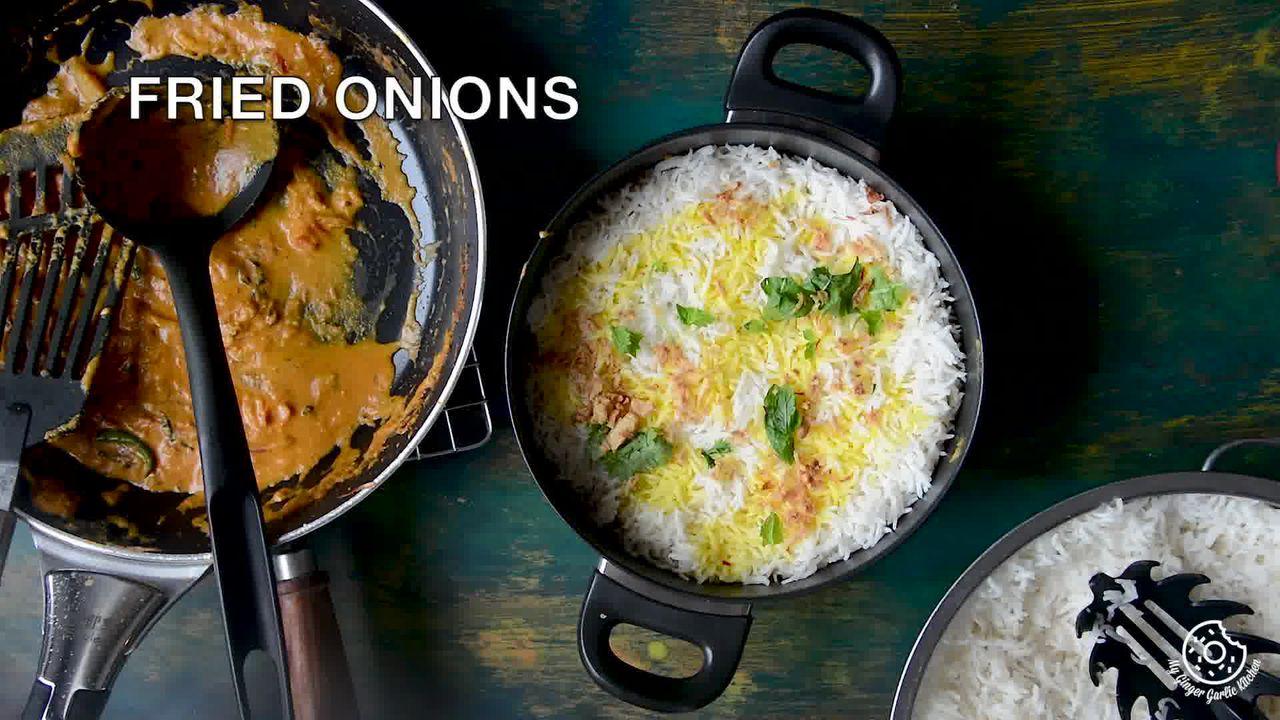 Image of the cooking step-5-3 for Hyderabadi Egg Biryani - Egg Dum Biryani (Video Recipe)