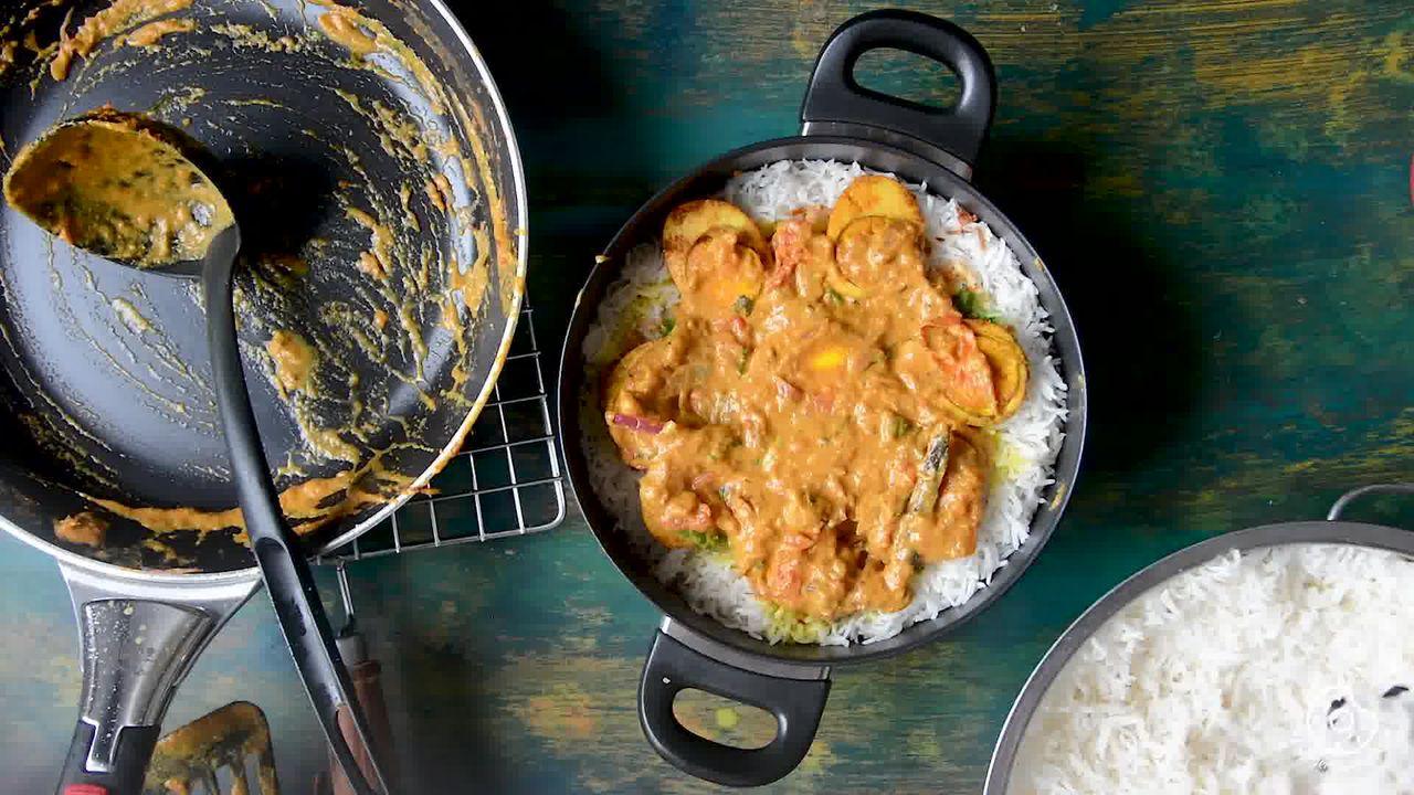 Image of the cooking step-5-4 for Hyderabadi Egg Biryani - Egg Dum Biryani (Video Recipe)
