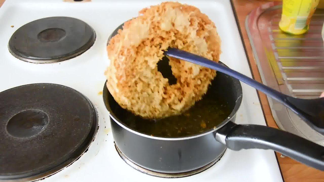 Image of the cooking step-1-14 for Ghevar - How To Make Jaipuri Malai Ghevar