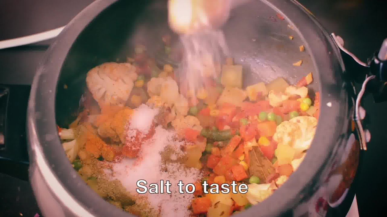 Image of the cooking step-1-11 for How To Make Masala Khichdi (Vegetable Khichdi Recipe)