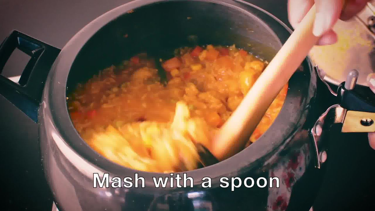Image of the cooking step-1-16 for How To Make Masala Khichdi (Vegetable Khichdi Recipe)