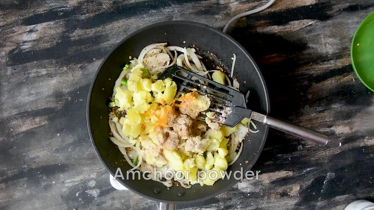 Image of the cooking step-2-7 for How to make Puri Bhaji - Poori Bhaji - Batata Bhaji Poori