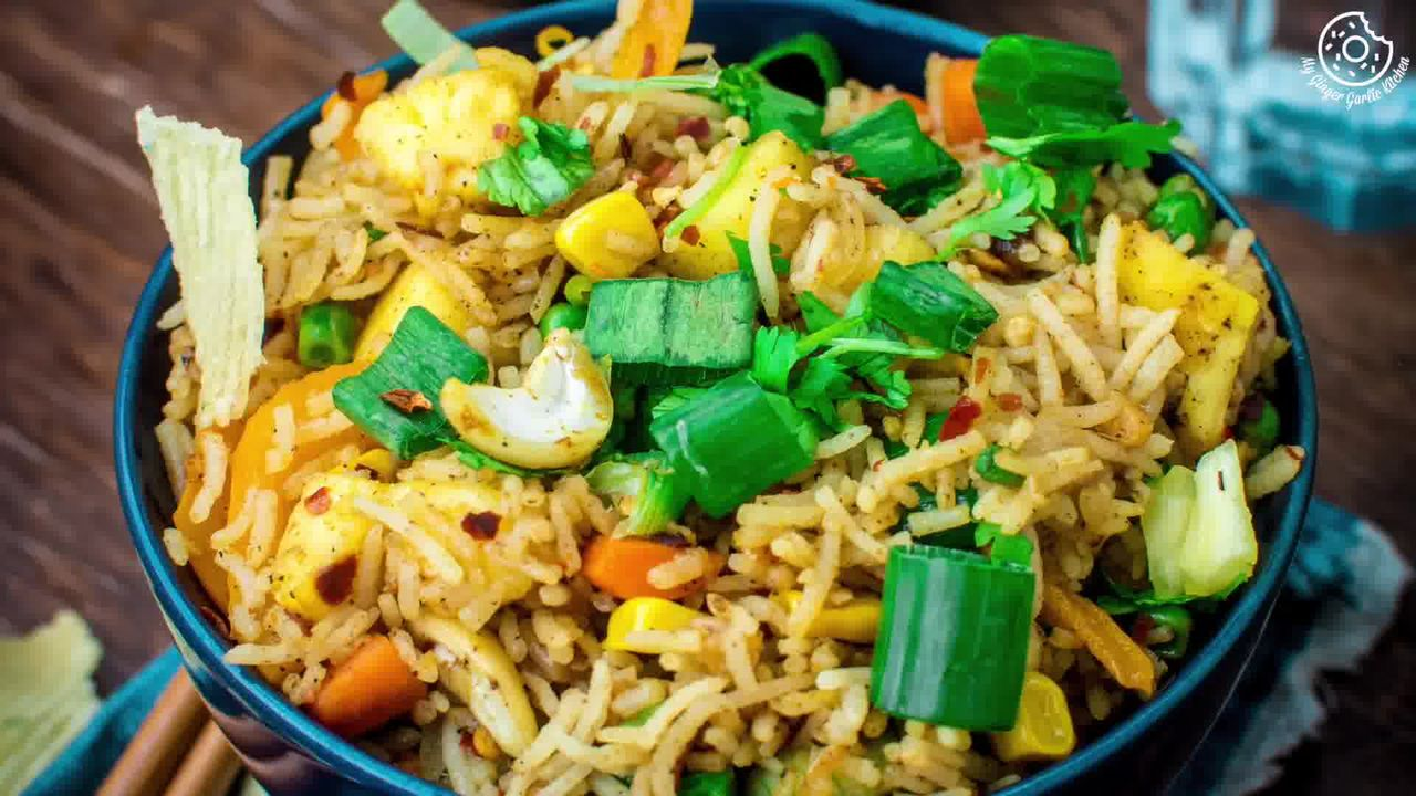 Image of the cooking step-1-9 for Thai Pineapple Fried Rice (Vegan)