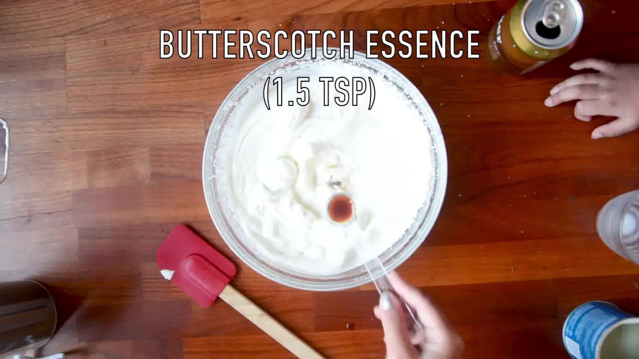 Image of the cooking step-2-5 for Indian Butterscotch Ice Cream Recipe - No Churn - Eggless