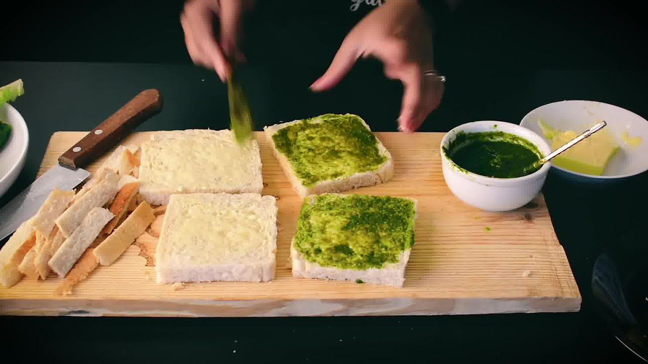 Image of the cooking step-2-3 for Indian Cucumber Chutney Sandwich – Tea Time Sandwich