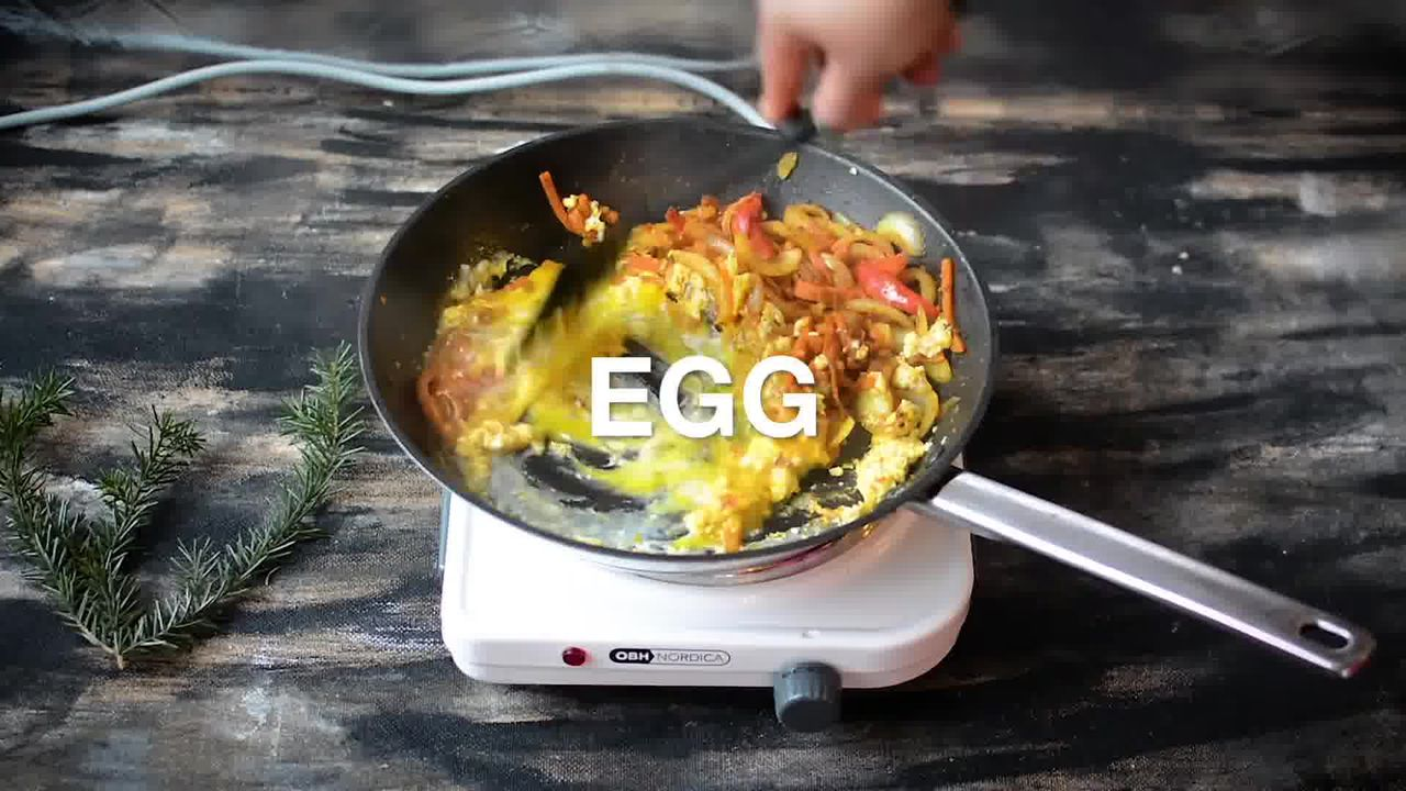 Image of the cooking step-2-8 for Indian Style Triple Egg Fried Rice Recipe