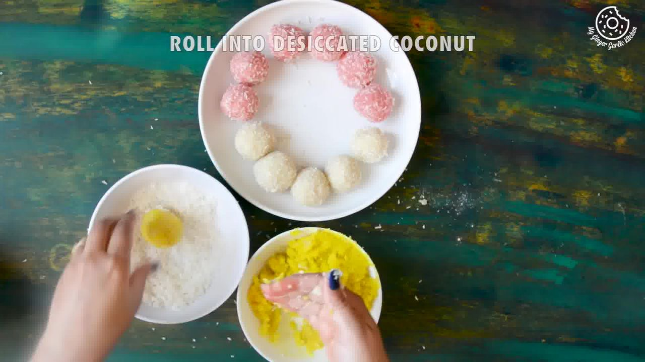 Image of the cooking step-2-5 for Instant Coconut Ladoo Recipe (Rose, Saffron, Cardamom)