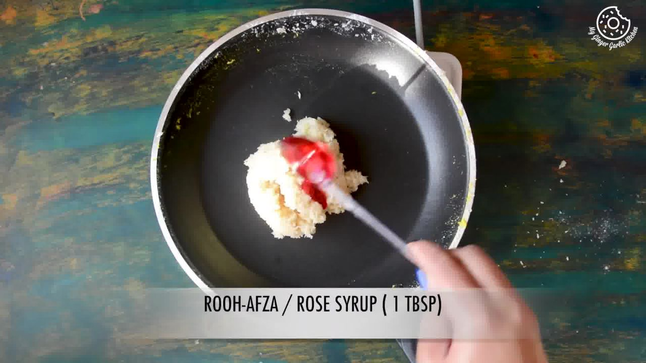 Image of the cooking step-3-1 for Instant Coconut Ladoo Recipe (Rose, Saffron, Cardamom)