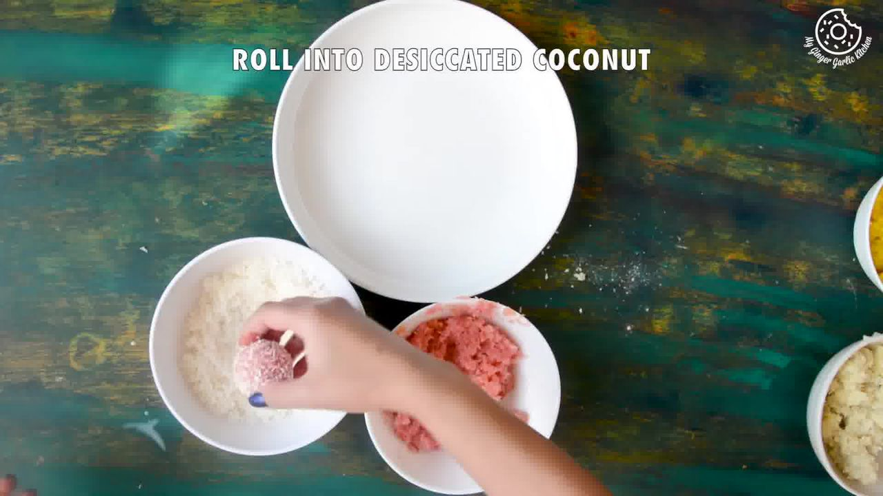 Image of the cooking step-3-5 for Instant Coconut Ladoo Recipe (Rose, Saffron, Cardamom)