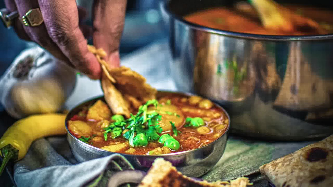Image of the cooking step-1-15 for Instant Pot Aloo Matar - Potato Peas Curry