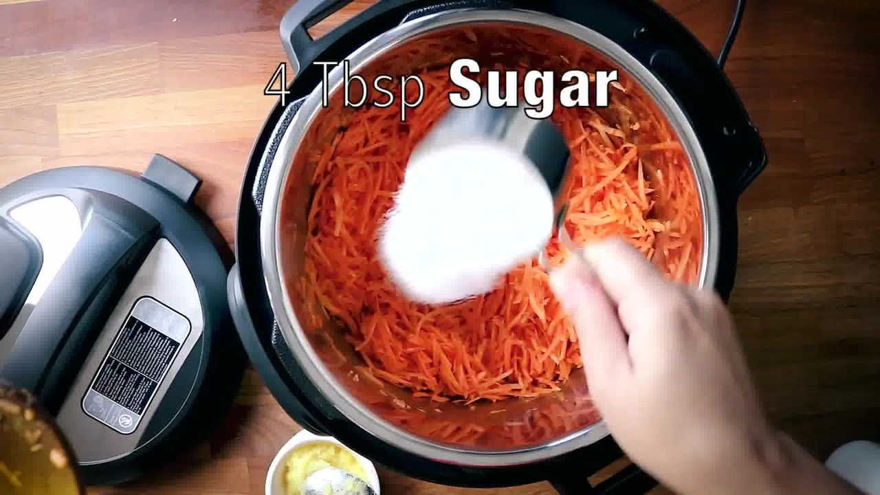 Image of the cooking step-1-7 for Instant Pot Gajar Halwa - Carrot Halwa Recipe