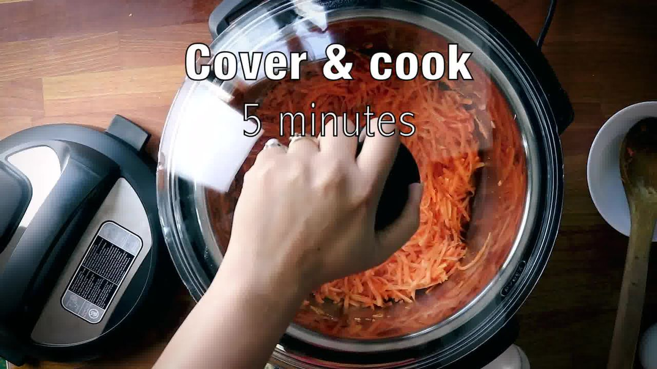 Image of the cooking step-1-8 for Instant Pot Gajar Halwa - Carrot Halwa Recipe