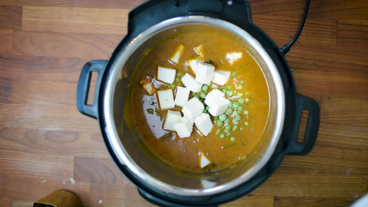 Image of the cooking step-1-10 for Instant Pot Matar Paneer - Pressure Cooker Peas and Paneer