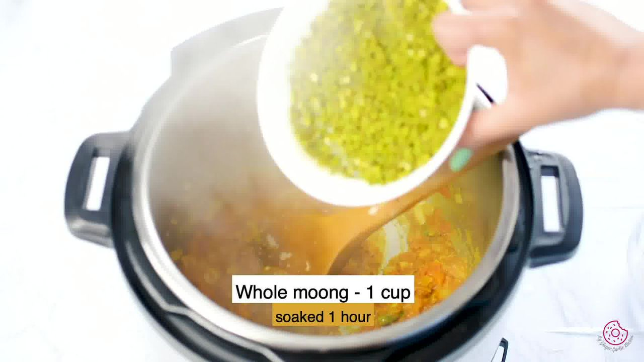 Image of the cooking step-1-11 for Instant Pot Whole Green Moong Dal - Mung Bean Curry