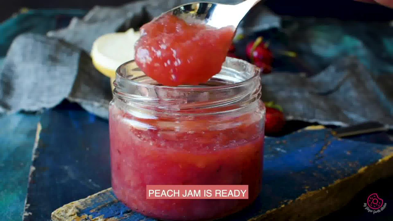 Image of the cooking step-1-9 for Instant Pot Peach Jam