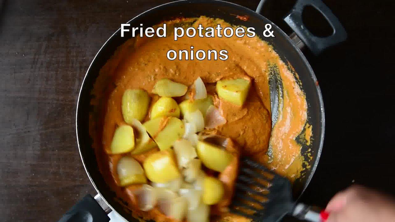 Image of the cooking step-1-18 for Jaipuri Aloo Pyaaz Ki Sabzi – Potato Onion Curry