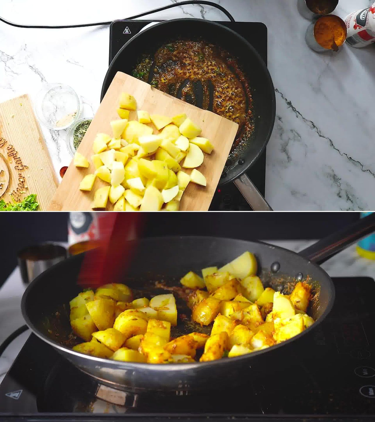 Image of the cooking step-1-6 for Jeera Aloo