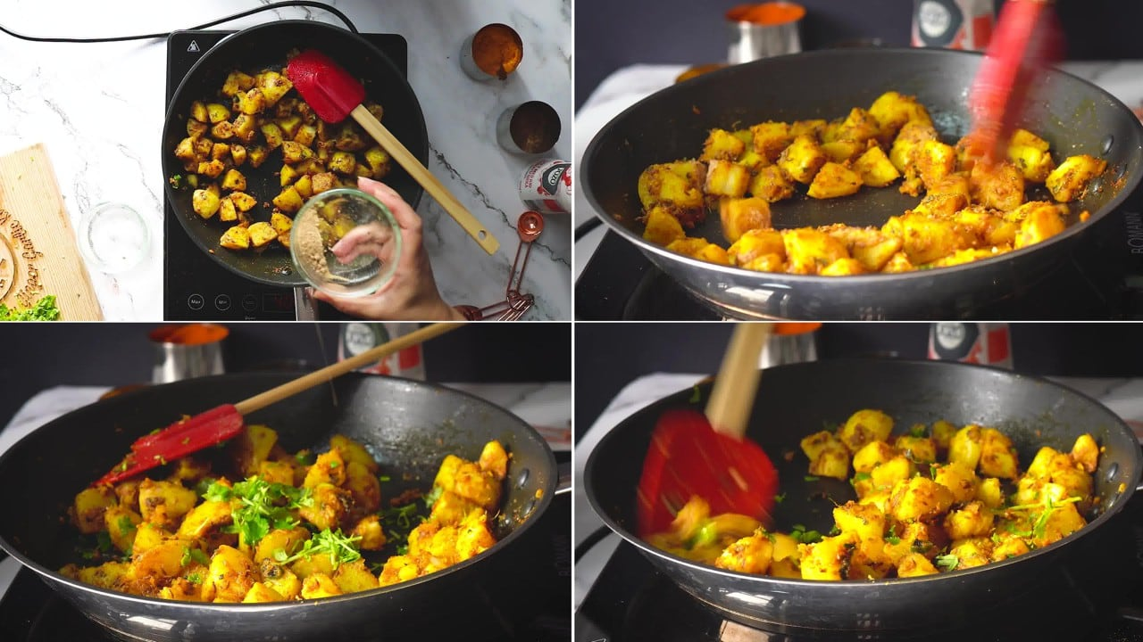 Image of the cooking step-1-8 for Jeera Aloo