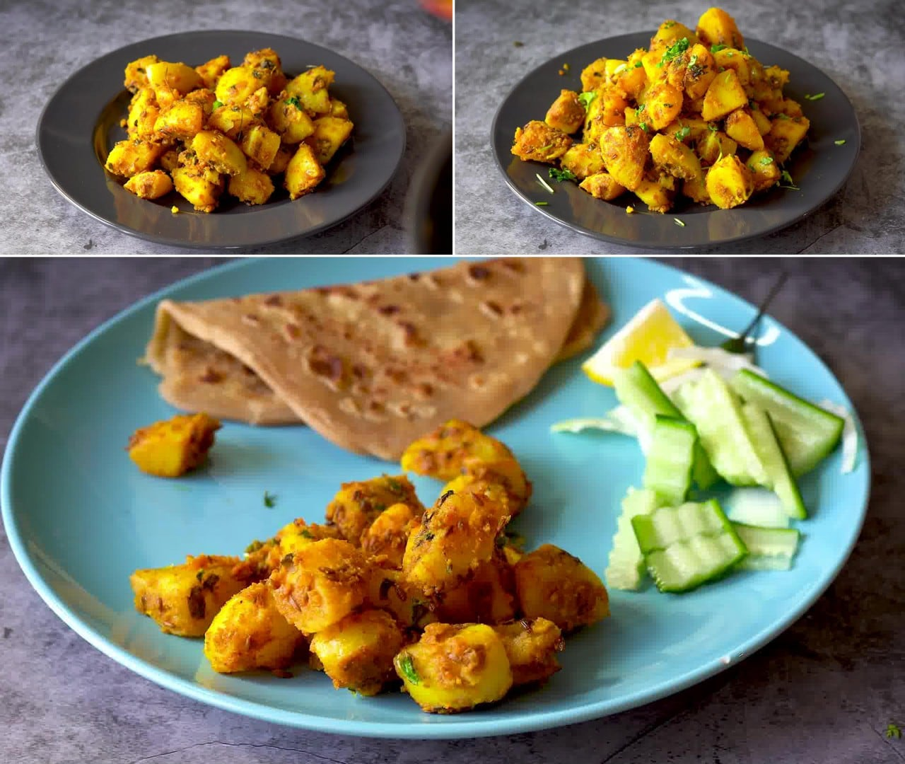 Image of the cooking step-1-9 for Jeera Aloo