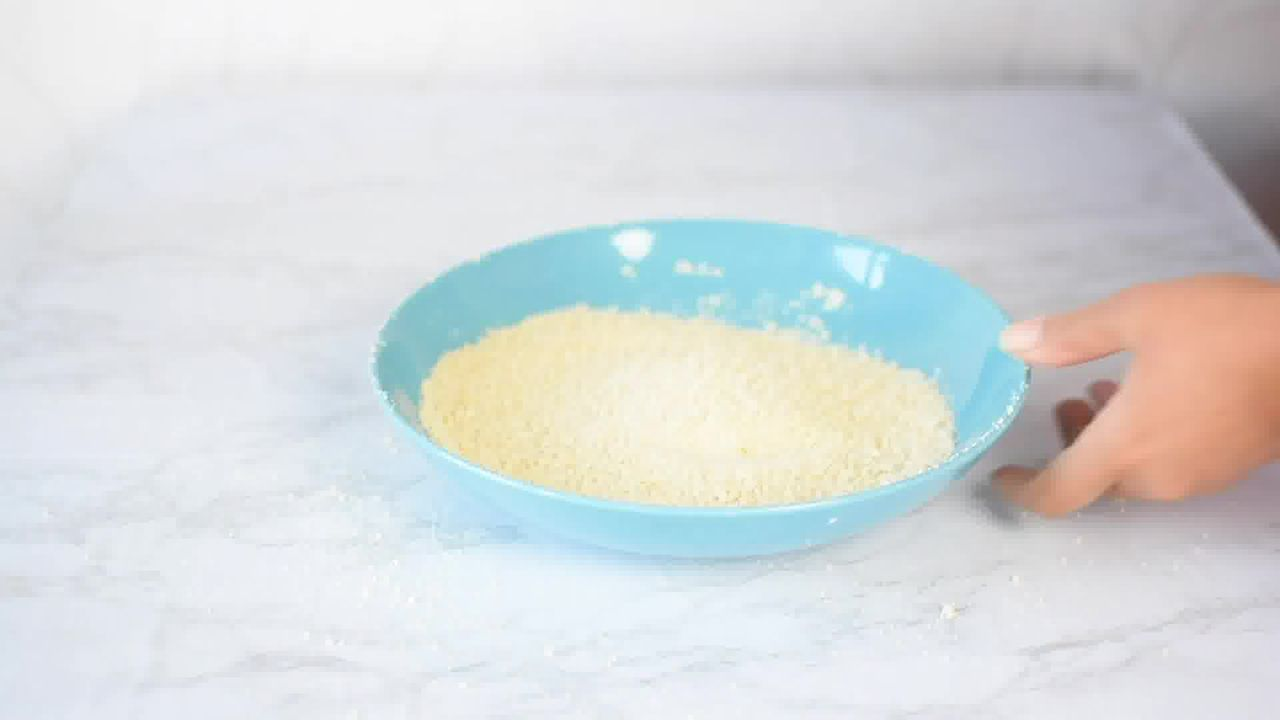 Image of the cooking step-1-3 for Kaju Pista Roll Recipe - Cashew Pistachio Fudge