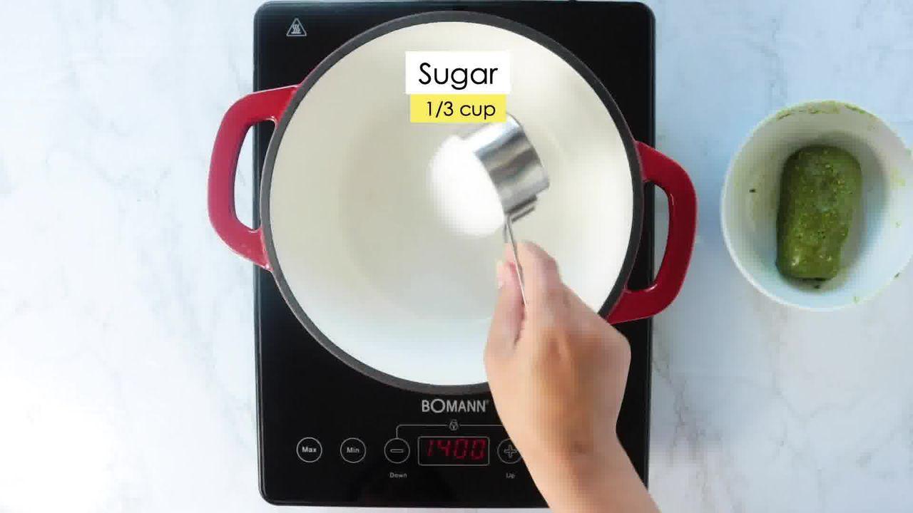 Image of the cooking step-4-1 for Kaju Pista Roll Recipe - Cashew Pistachio Fudge