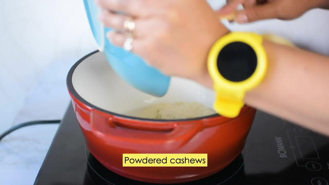 Image of the cooking step-5-1 for Kaju Pista Roll Recipe - Cashew Pistachio Fudge