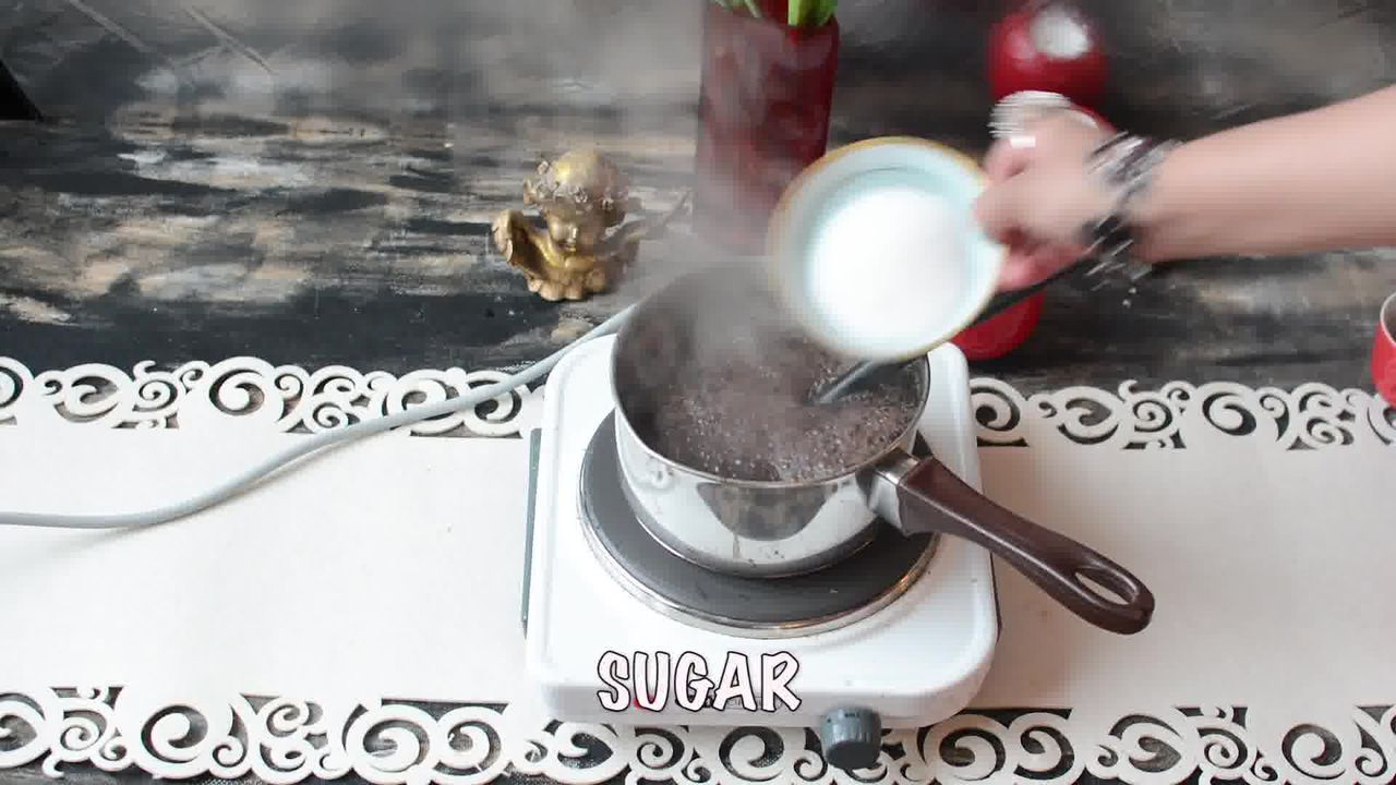 Image of the cooking step-1-6 for Kashmiri Pink Chai - Noon Chai (Video)