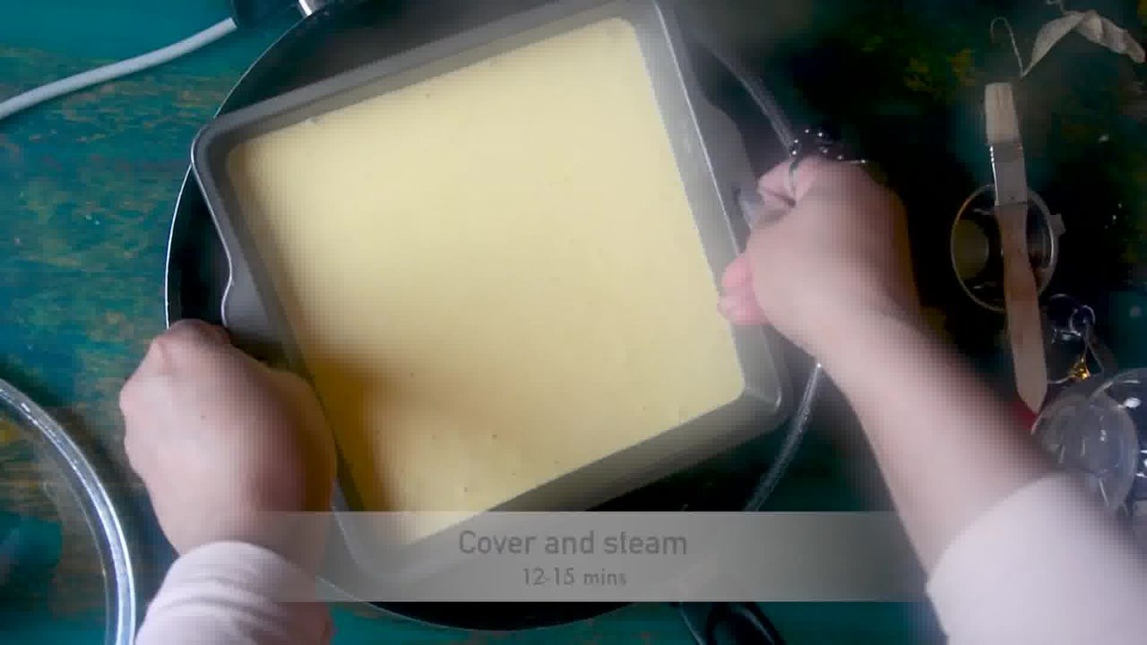 Image of the cooking step-1-12 for Khaman Dhokla Recipe - Instant Soft and Spongy Dhokla