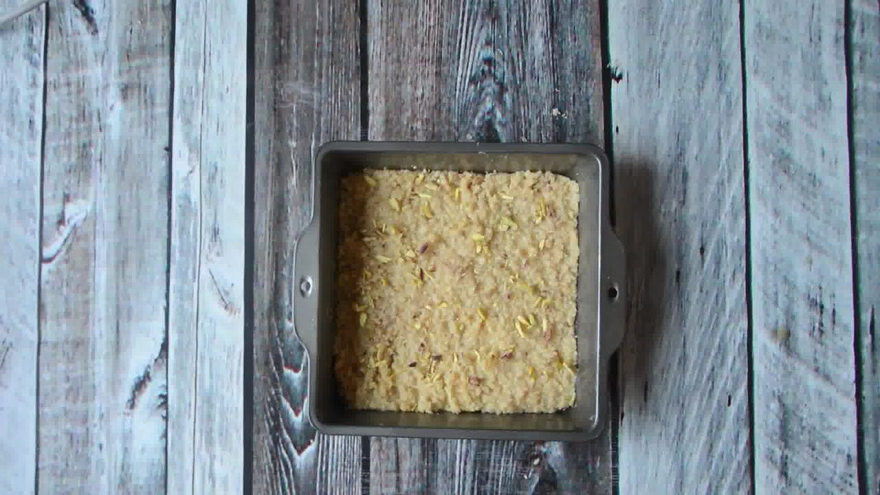 Image of the cooking step-1-10 for Kopra Pak - Nariyal Ki Burfi - Khopra Pak Video Recipe