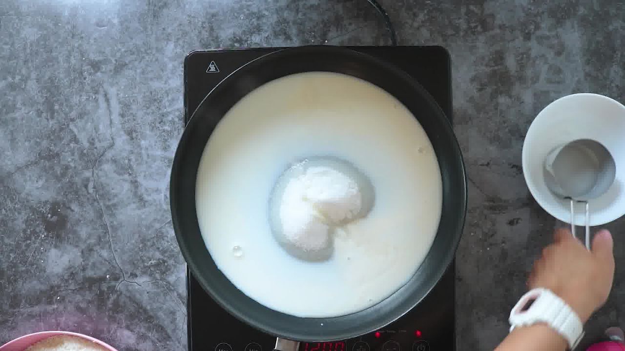 Image of the cooking step-1-3 for Layered Coconut Burfi